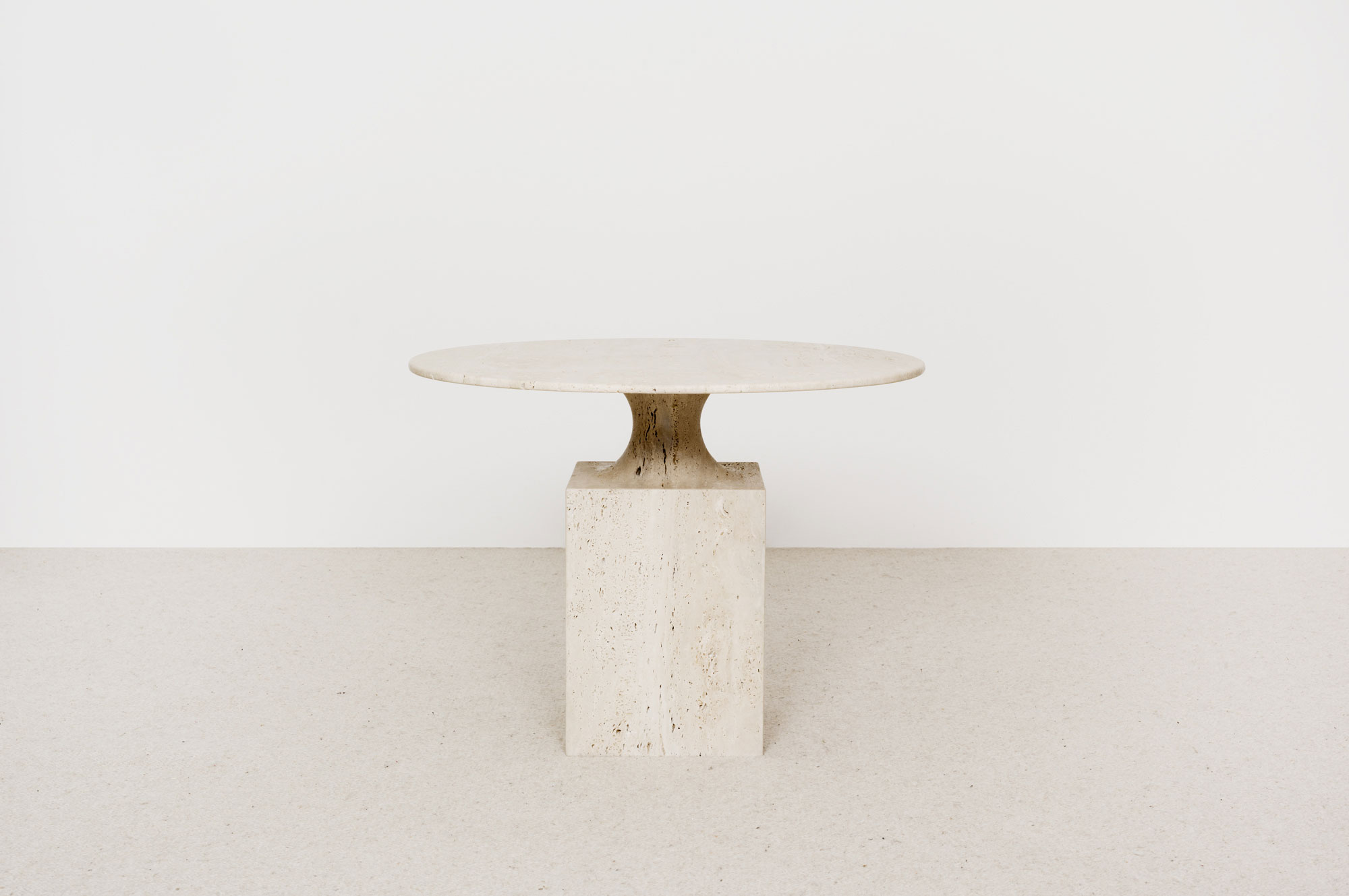 Table Appoint Ouk Travertin - Christophe Delcourt