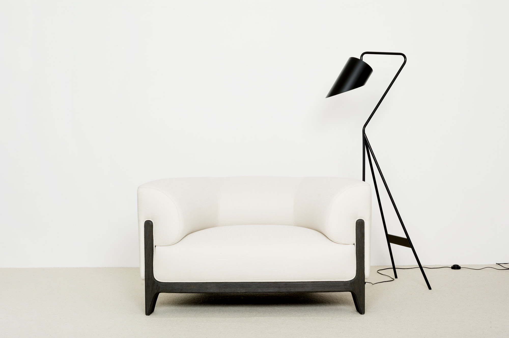 Swn Floor Lamp Bob Armchair